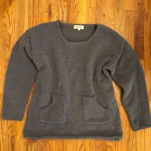 Softest cute fit gray oversize sweater